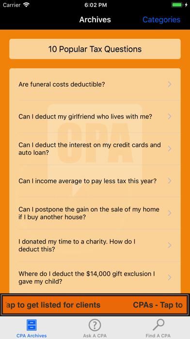 ASK A CPA Tax AnswersScreenshot of 2