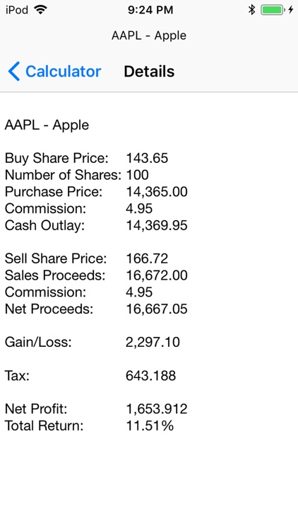 SSPI Stock Calculator screenshot-3
