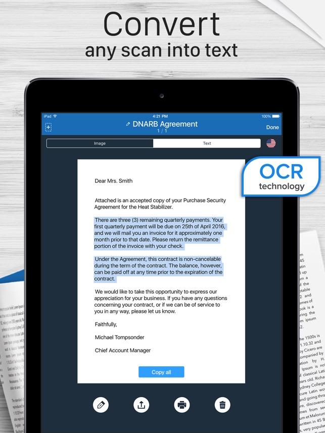 Scanner for Me + OCR Screenshot