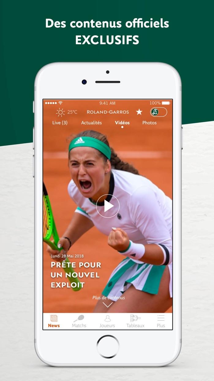 Roland-Garros Officiel Screenshot