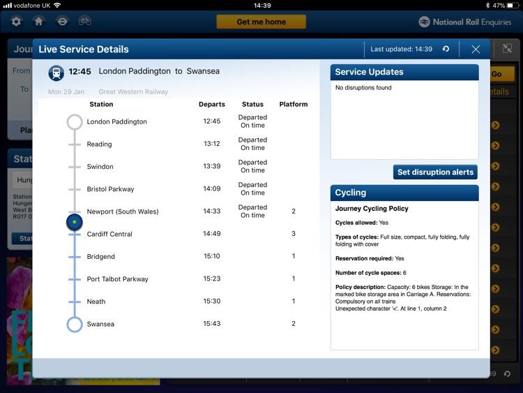 NationalRail Enquiries - iPad screenshot-3