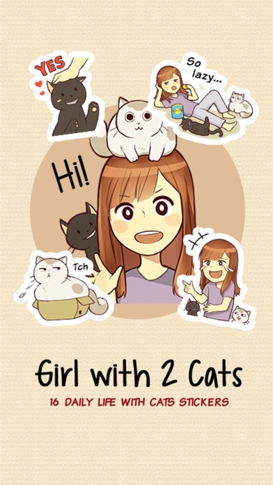 Girl With 2 Cats