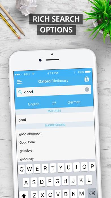 Oxford German Dictionary Screenshot 3