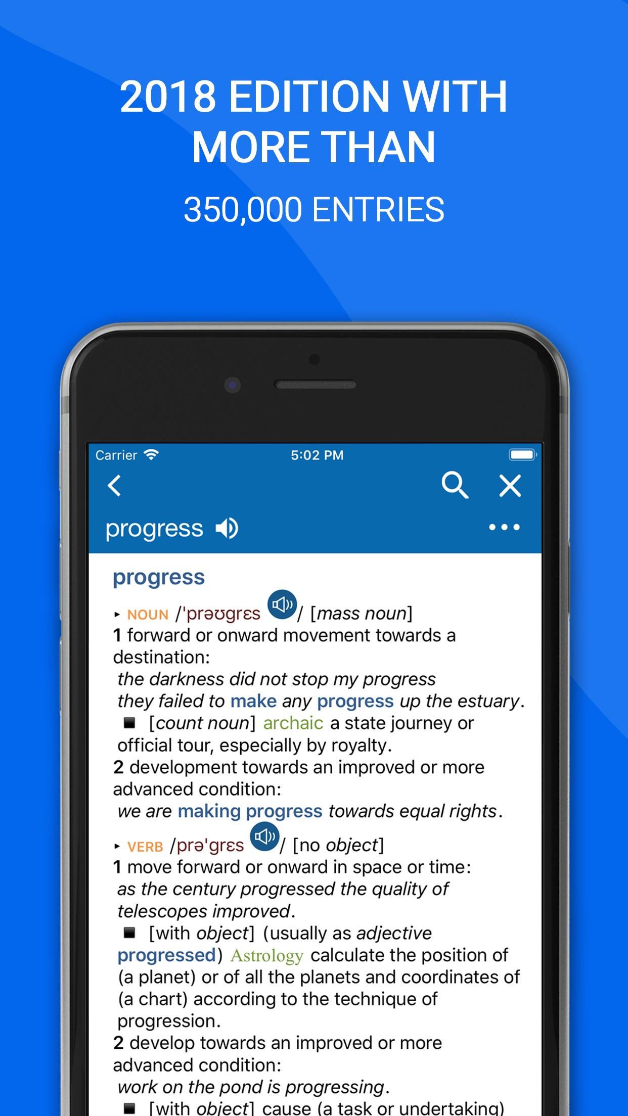 Oxford Dictionary of English Screenshot