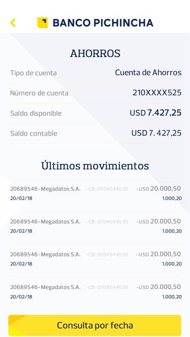 Screenshot for PICHINCHA BANCA MOVIL in Ecuador App Store