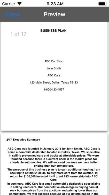 Business Plan App screenshot-4