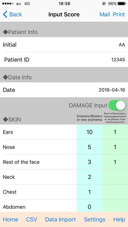 天疱瘡重症度スコア(PDAI)