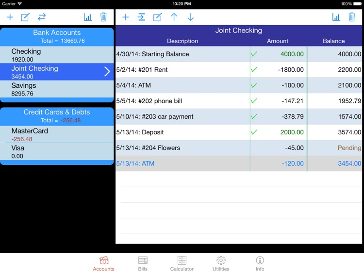 iCheckBalance for iPad