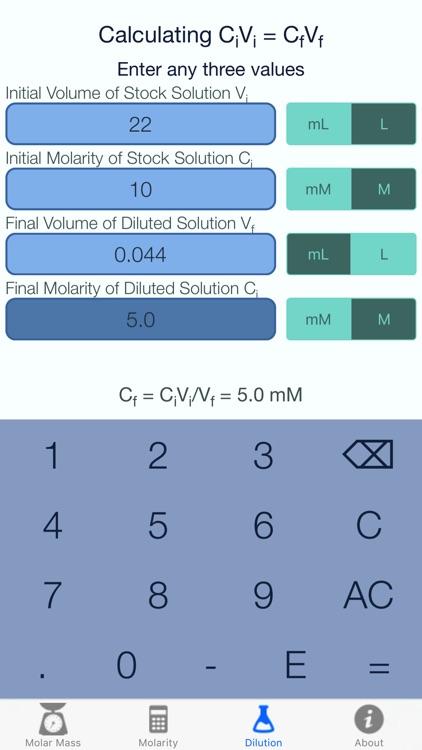 Molar Mass Molarity Calc screenshot-3