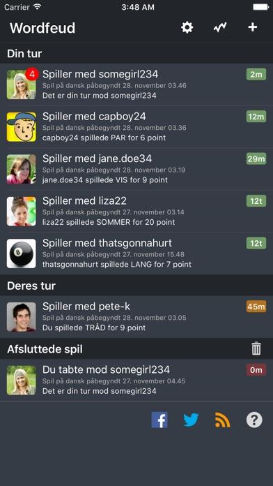 Screenshot for Wordfeud in Denmark App Store