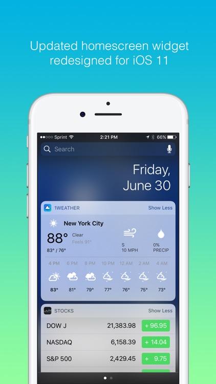 1Weather - Forecast, Radar, Widget & Alerts screenshot-4