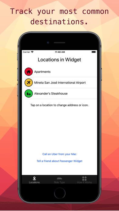 Passenger Widget for Uber Screenshot