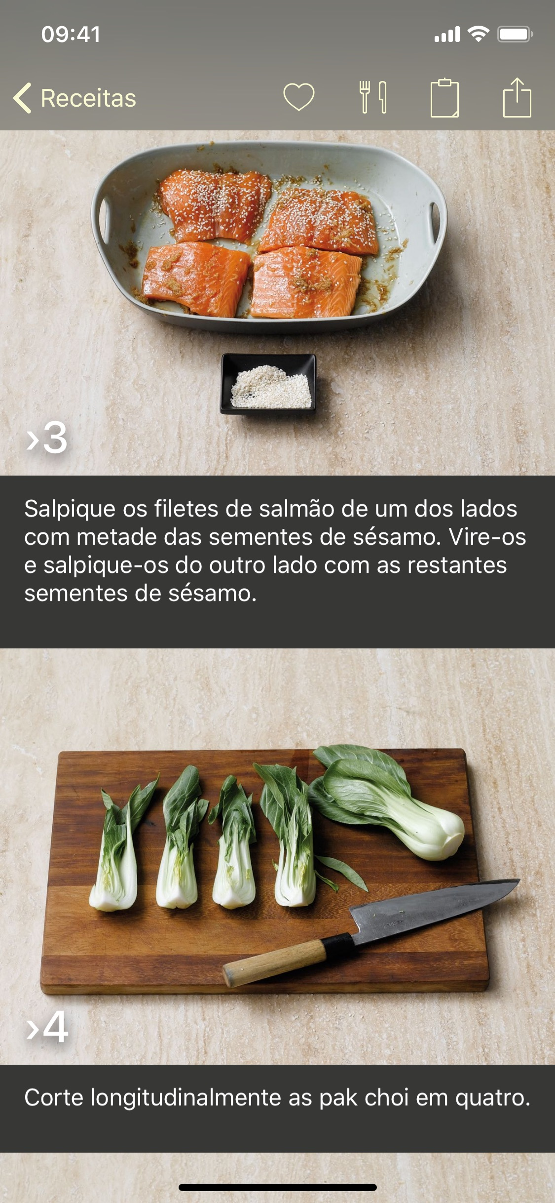 Screenshot do app Foto-Receitas