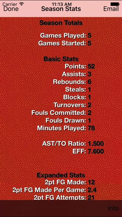 Basketball Stats Tracker Touch screenshot-3
