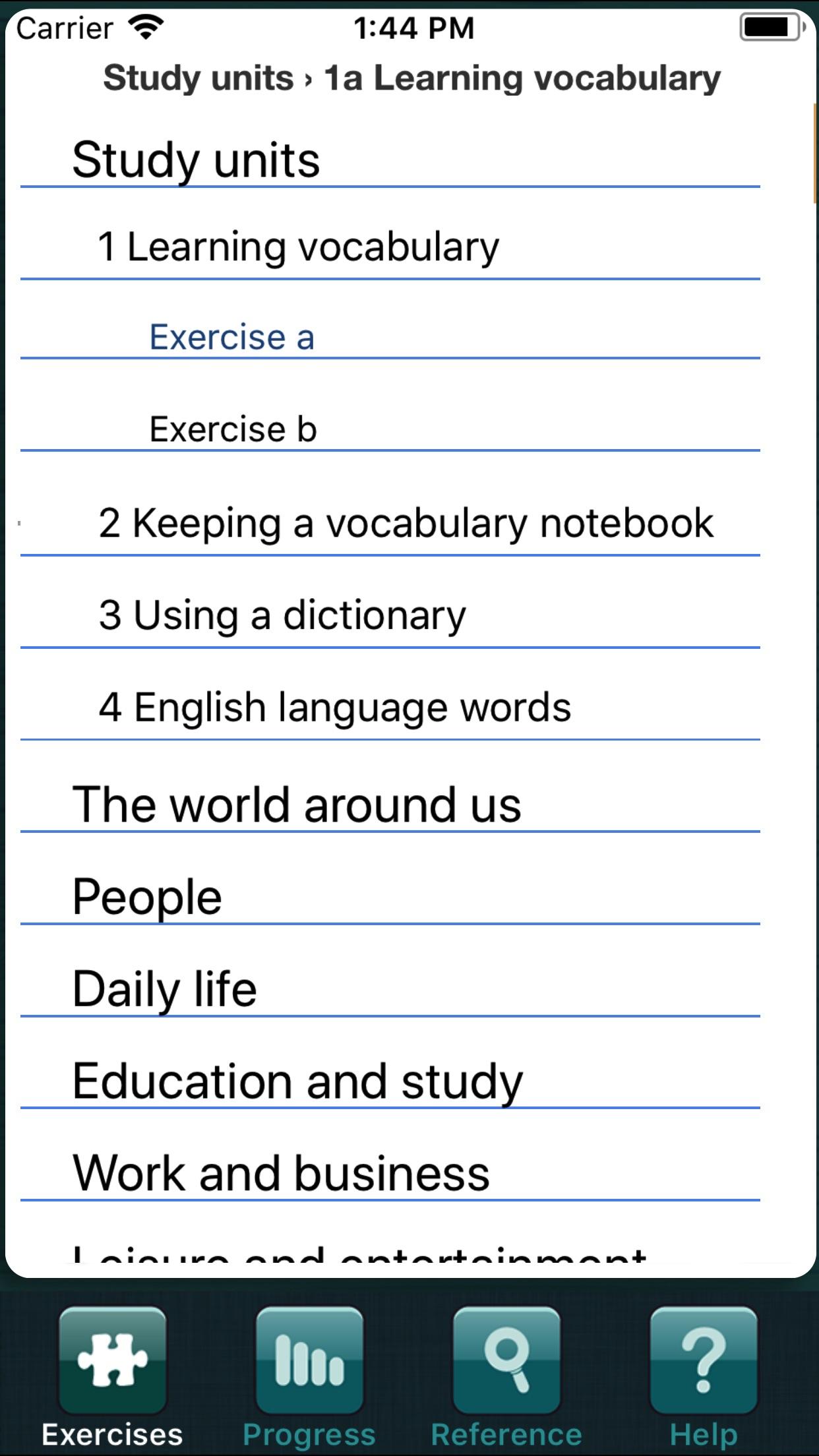 Vocabulary in Use Intermediate Screenshot