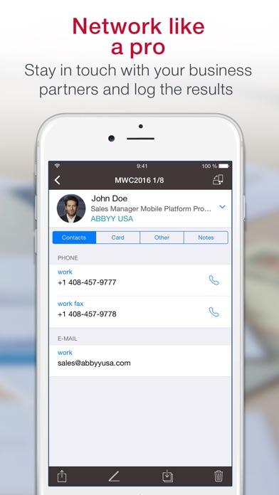 App meister abbyy business card reader vs scanbizcards business iphone screenshots abbyy business card reader colourmoves Gallery
