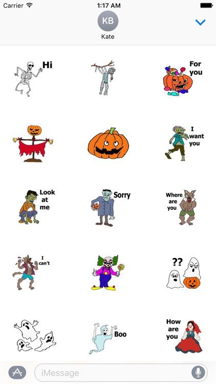 Happy Horror Halloween Sticker