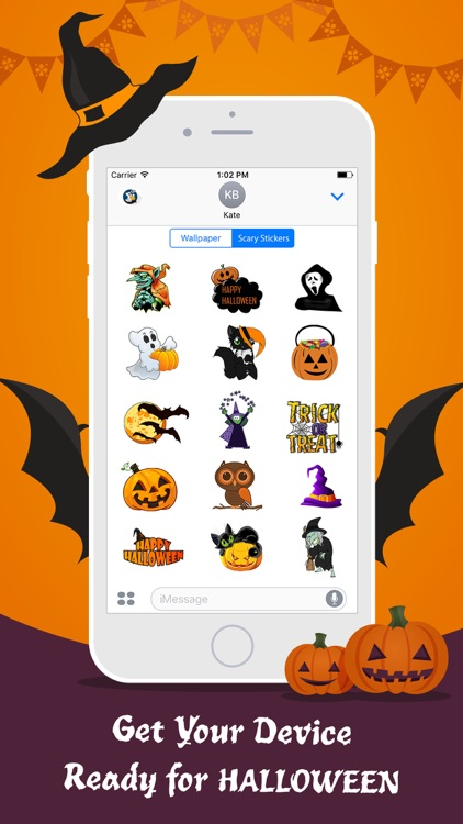 Halloween Wallpaper Sticker HD screenshot-4