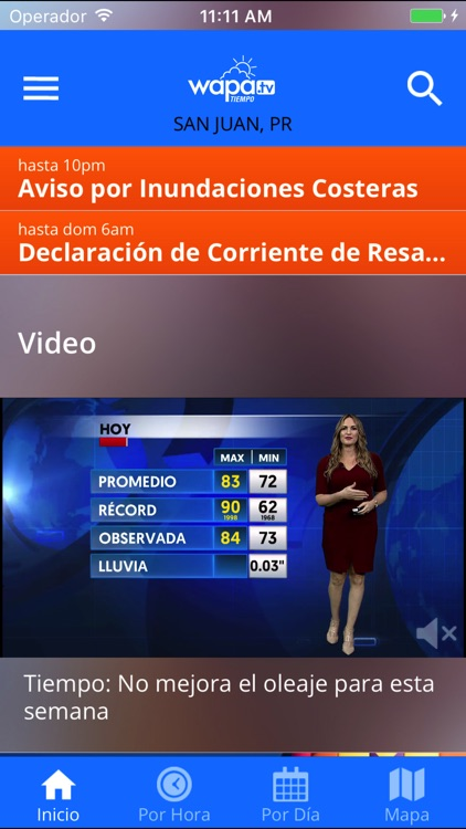 Wapa TV Tiempo screenshot-0