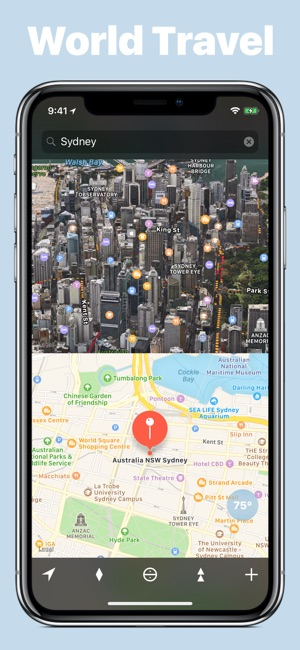3d World Map App For Iphone.  We Maps 04 3D 2D World Map on the App Store