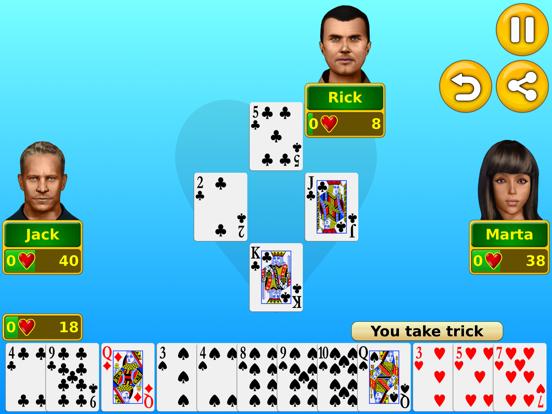 Hearts - Play online & offline screenshot