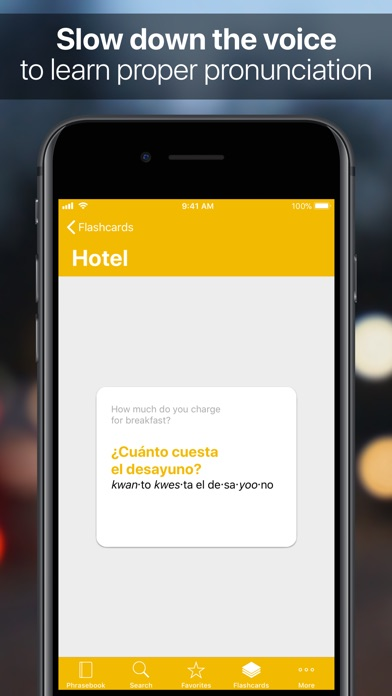 SpeakEasy Spanish Screenshot on iOS