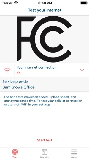 FCC Speed Test on the App Store