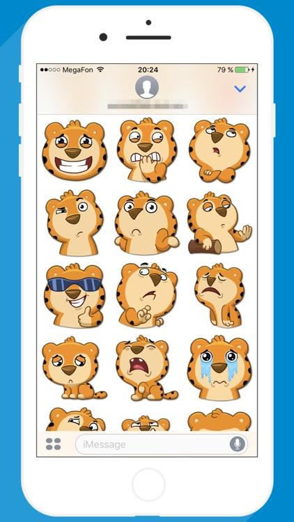 Cute Tiger STiK Sticker Pack