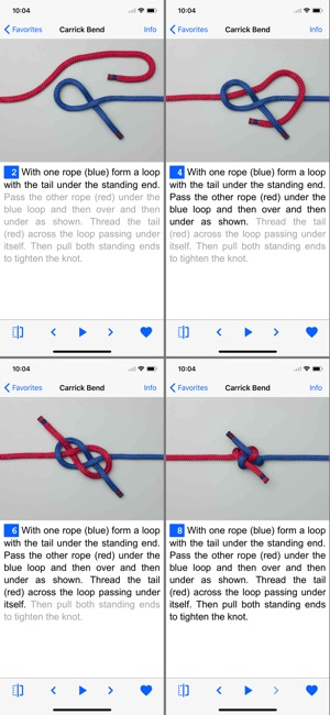 backing up iphone animated knots by grog on the app 1787