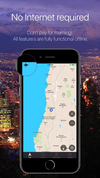 Chile Offline Navigation Screenshot