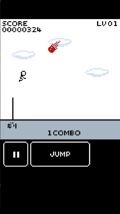 Jumping Stick Man Fire Meteor screenshot two