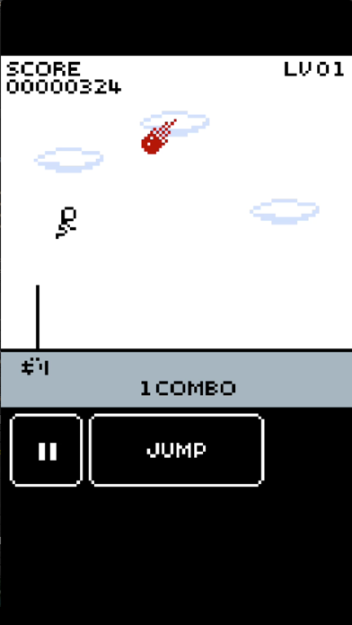 Jumping Stick Man Fire Meteor screenshot two