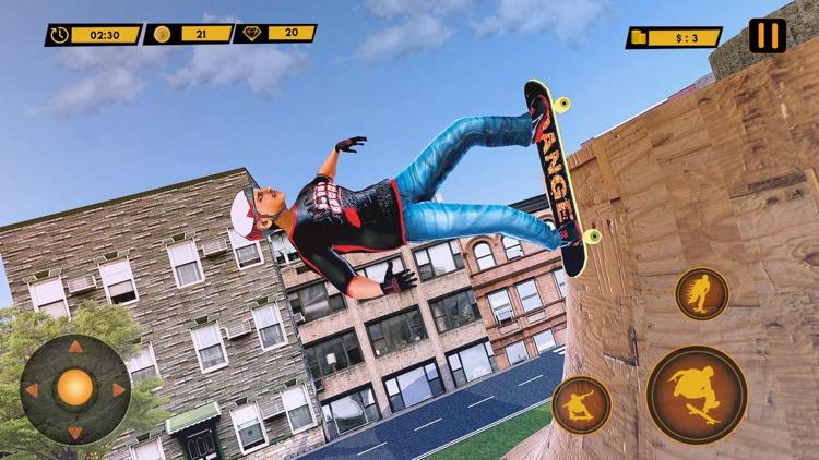 City Street Skateboard Stunts