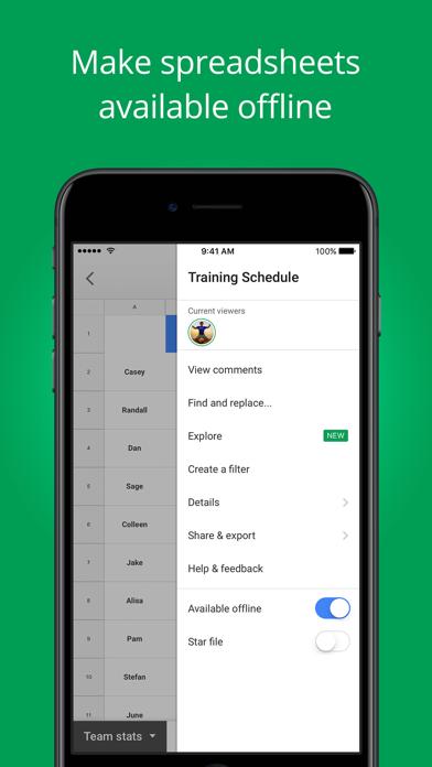 download Google Sheets apps 3