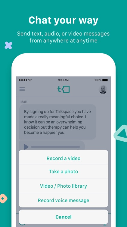 Talkspace Online Therapy screenshot-2