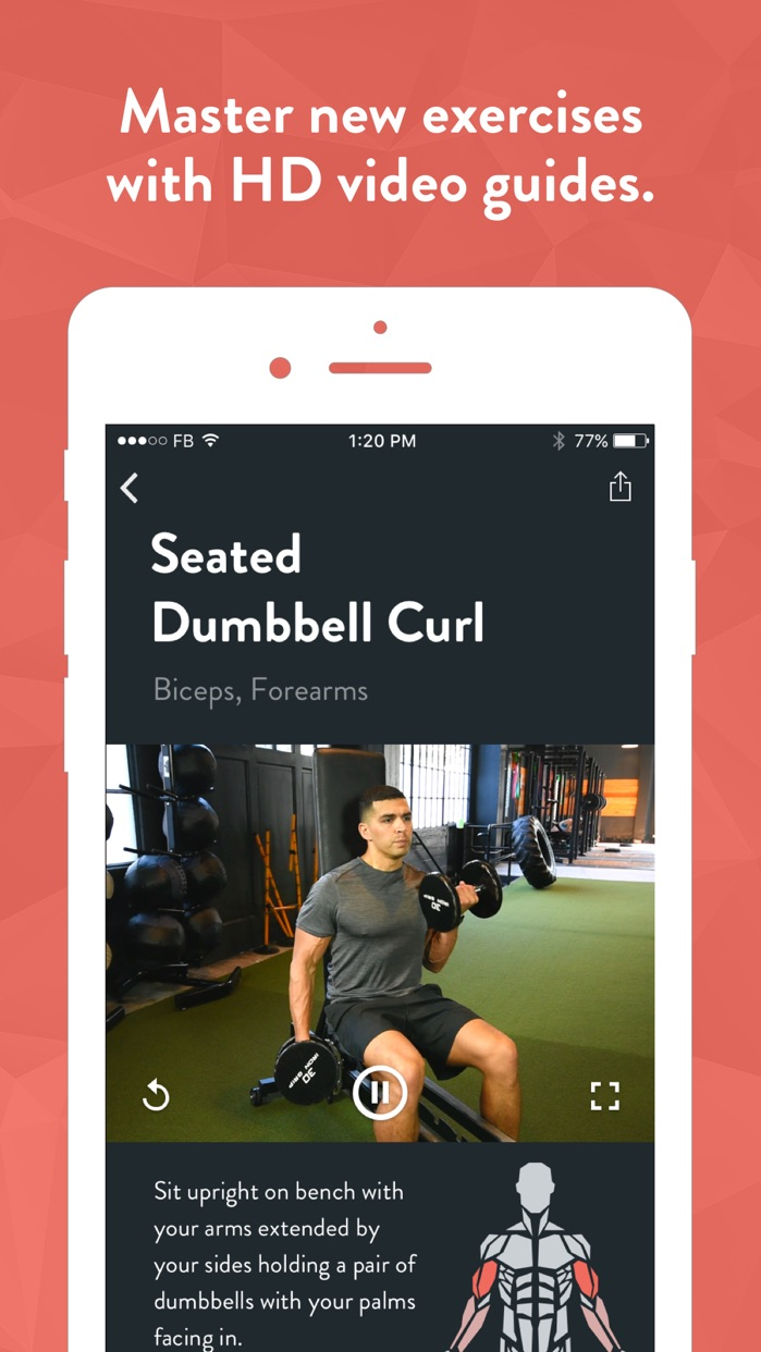 Fitbod Workout Tracker Gym Log Screenshot