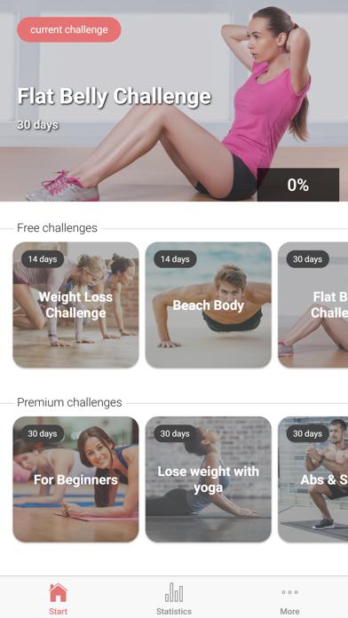 The Fitness Challenge screenshot one