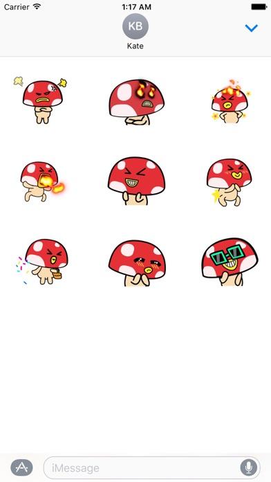 Moving Mushroom Emoij Sticker screenshot 2