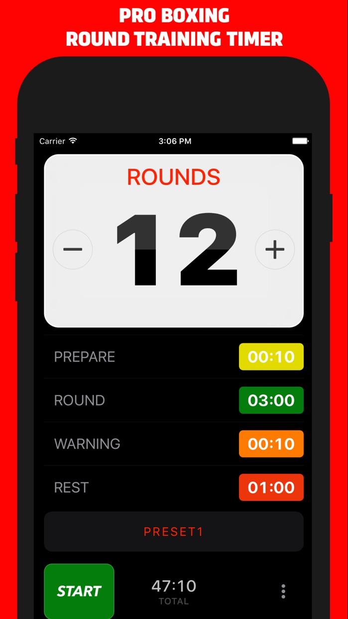 Boxing Timer Pro Screenshot