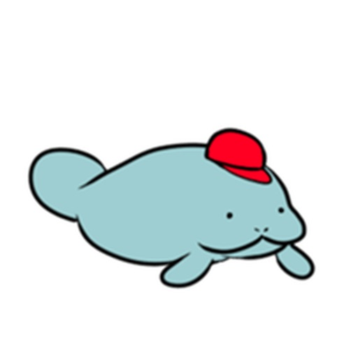 Adorable American Manatee Sticker