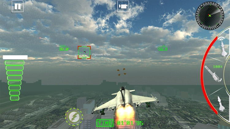 Air Jet Fighter Missile Attack screenshot-3
