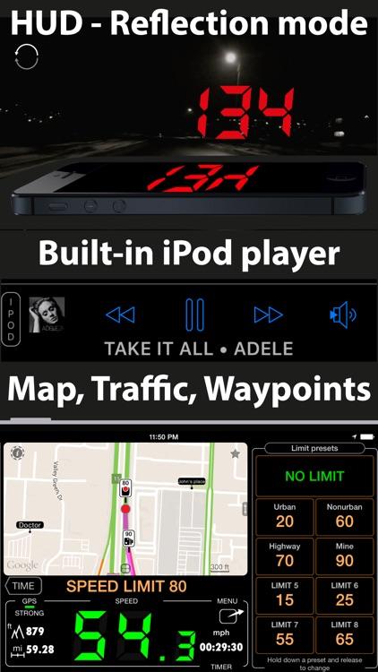 Speedometer 55 Pro. GPS kit. screenshot-3