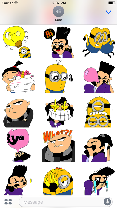 Despicable Me 3 x Momo Wang Stickers screenshot 2