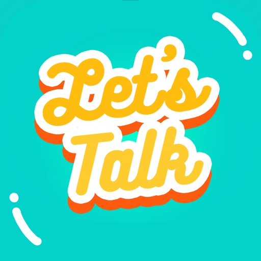 Let's Talk! - Text Stickers application logo