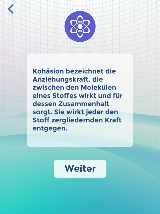 Wissenstraining Screenshot