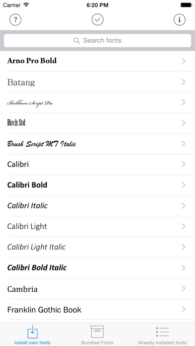 Screenshot for AnyFont in South Africa App Store