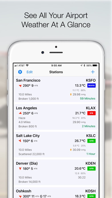 AeroWx Pro: METAR & TAF Screenshots