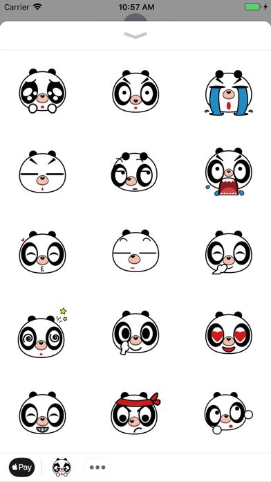 Lovely panda - Fx Sticker screenshot two