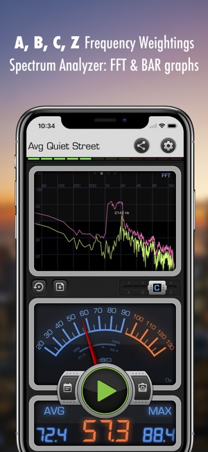 iphone decibel meter decibel x db dba noise meter on the app 11790