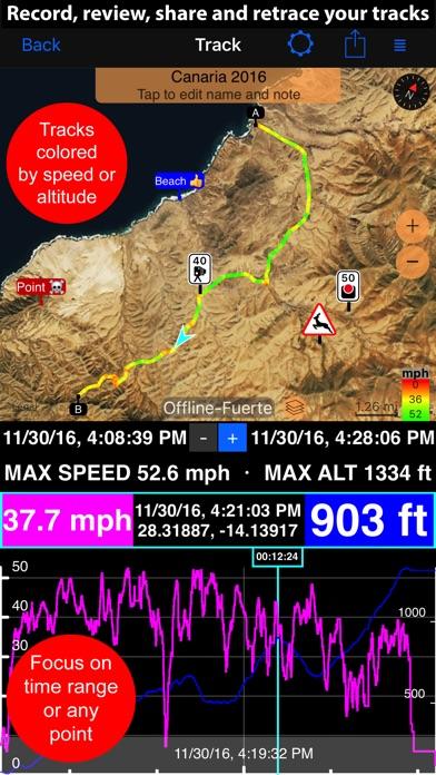 Speedometer 55 Pro. GPS kit. Screenshot